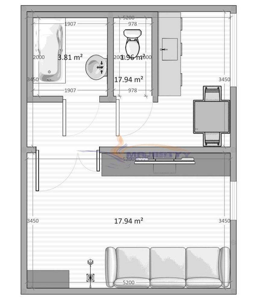 1-izb. slnečný byt s balkónom v OV Poprad JUH 3